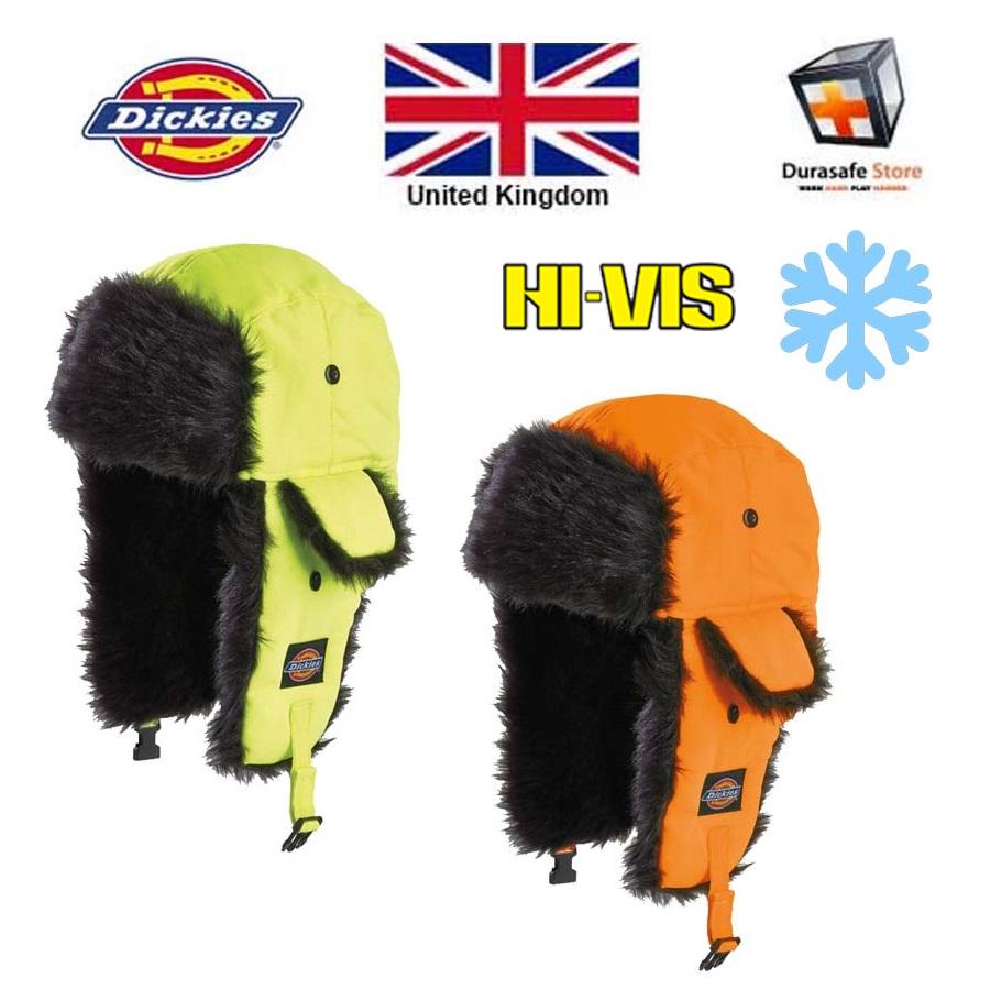 f1c4213f1 Dickies HA8017 Hi-Vis Winter Trapper Hat
