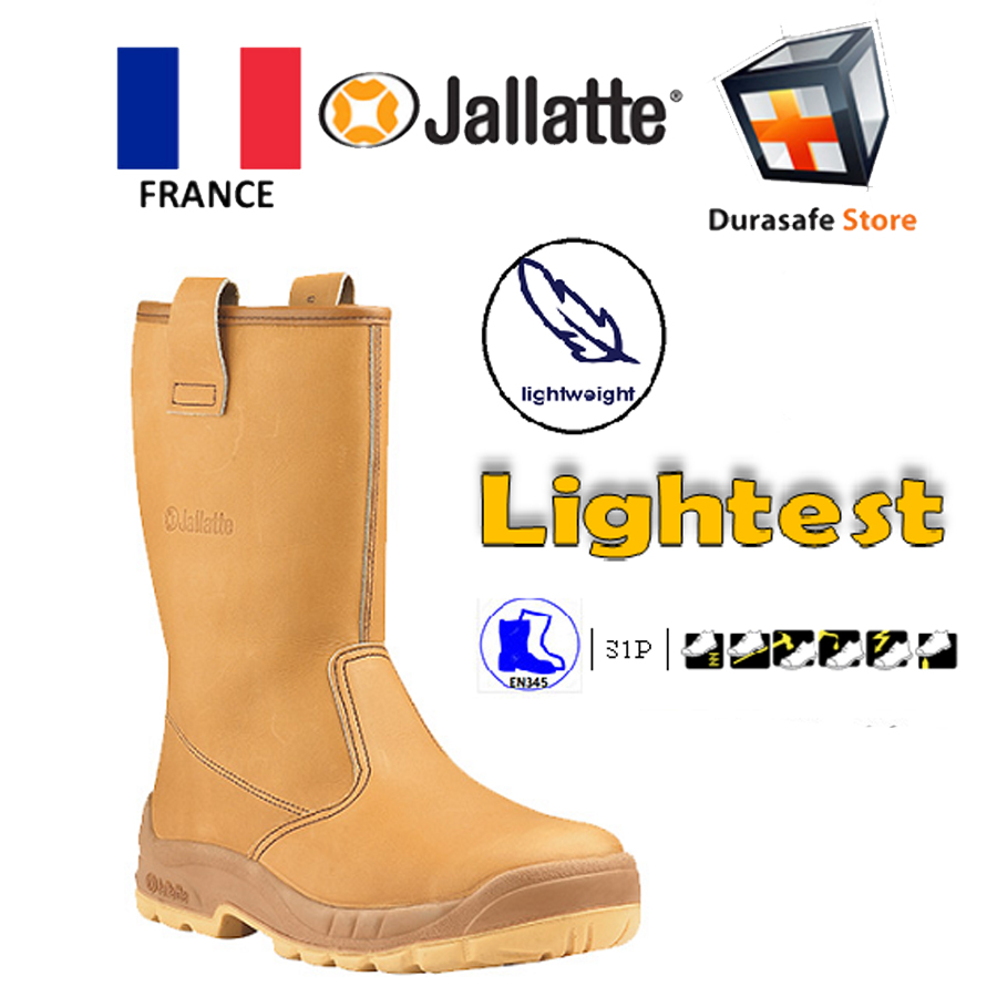 125b06f0f7b Jallatte Jalaska Safety Leather Rigger Boot PU Sole Brown Size 38 - 48
