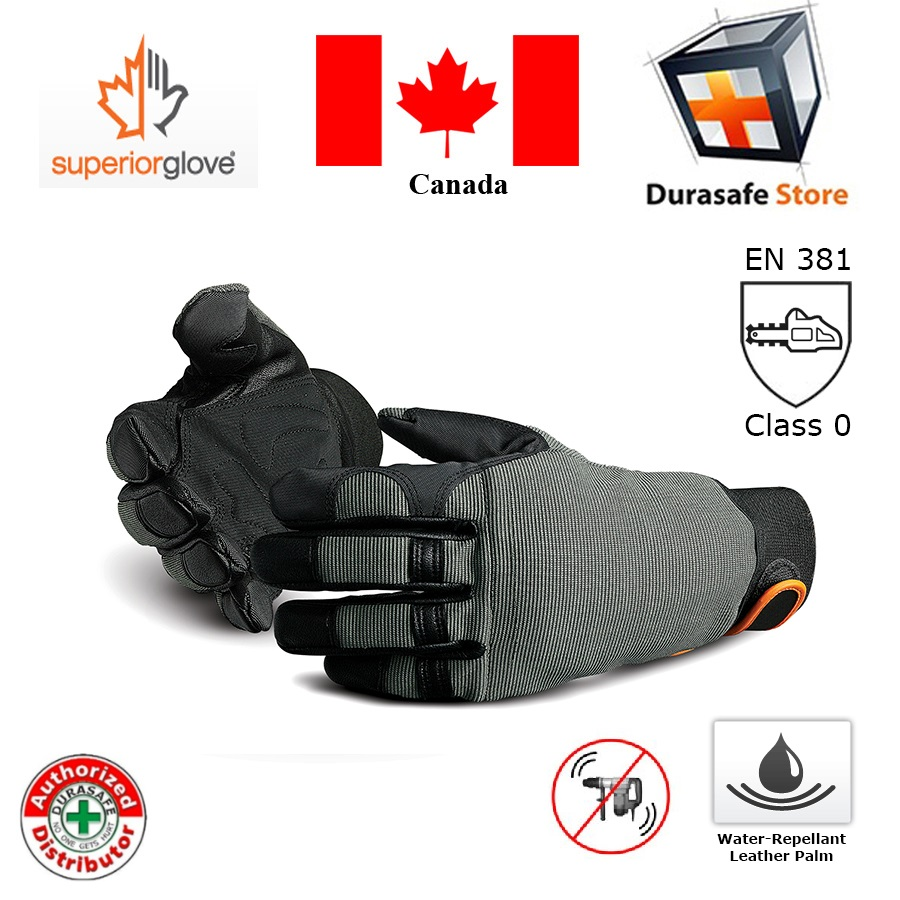 SUPERIOR 385CS LumberWorks Chainsaw Glove Grey/Black Size M-XL