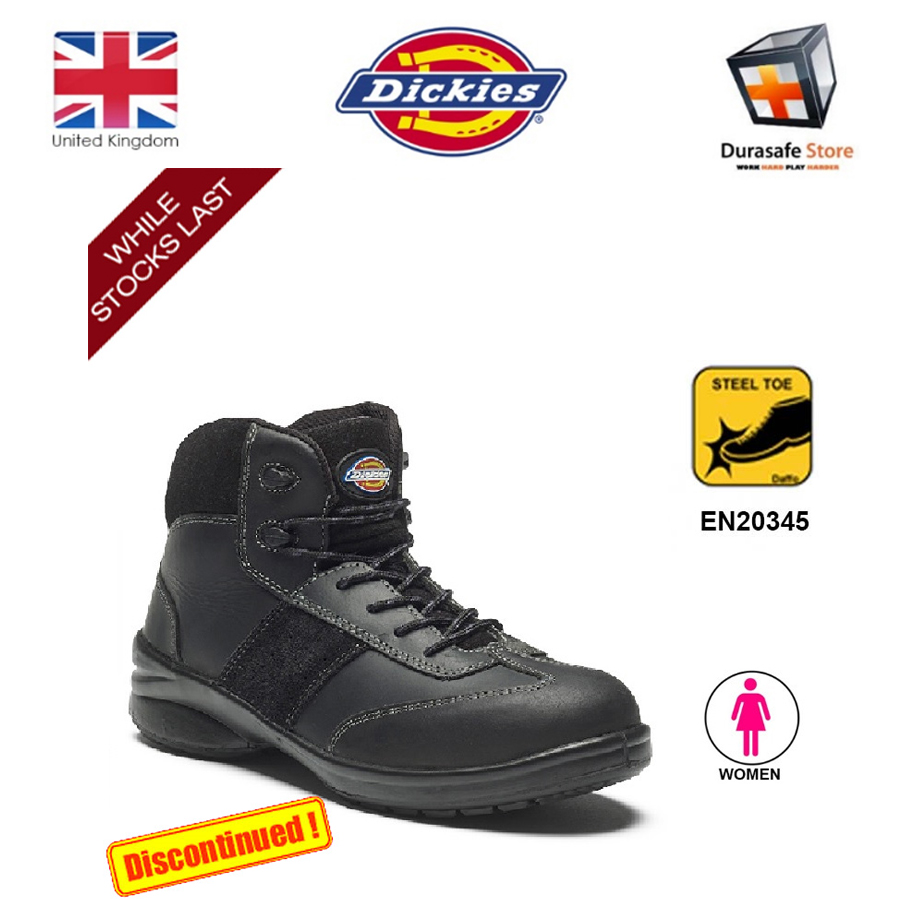 497ca63a124 Dickies FD9213 Velma Woman's Safety Boots Black Size 3-9