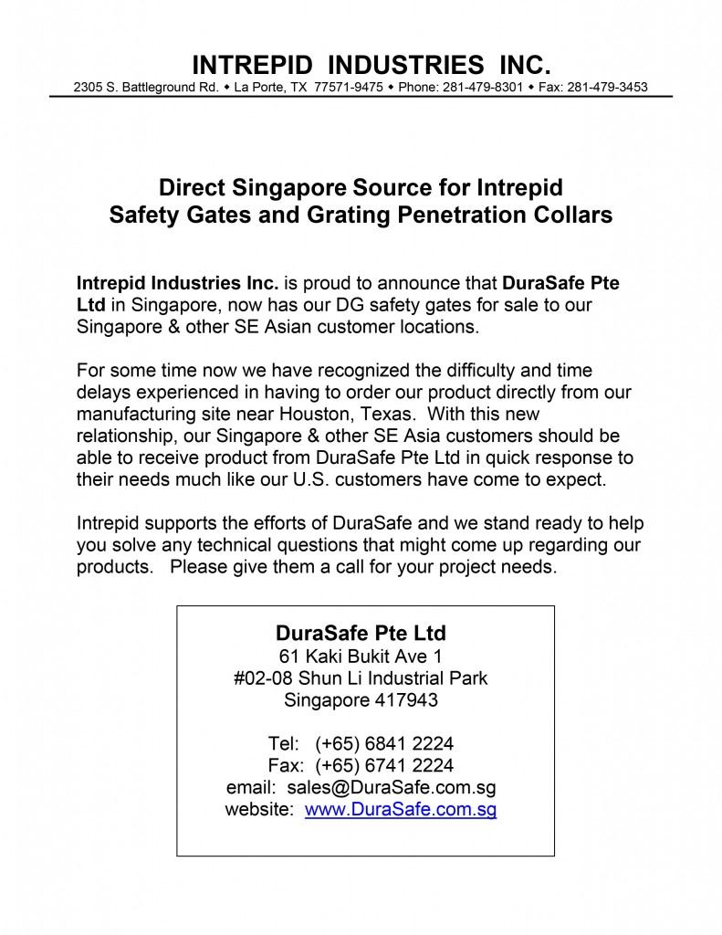 INTREPID - Durasafe Distributor Introduction Letter-01