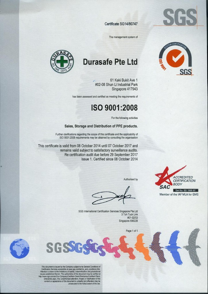 ISO-Certificate with SAC-01