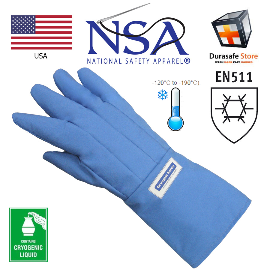 NSA G99 Cryogenic Water-Resistant Ultra Cold Glove Gauntlet Blue 15