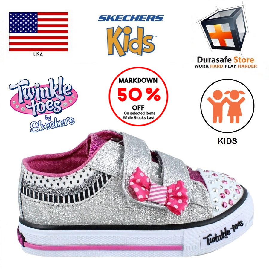 SKECHERS 10556 Girls Twinkle Toes Shoe