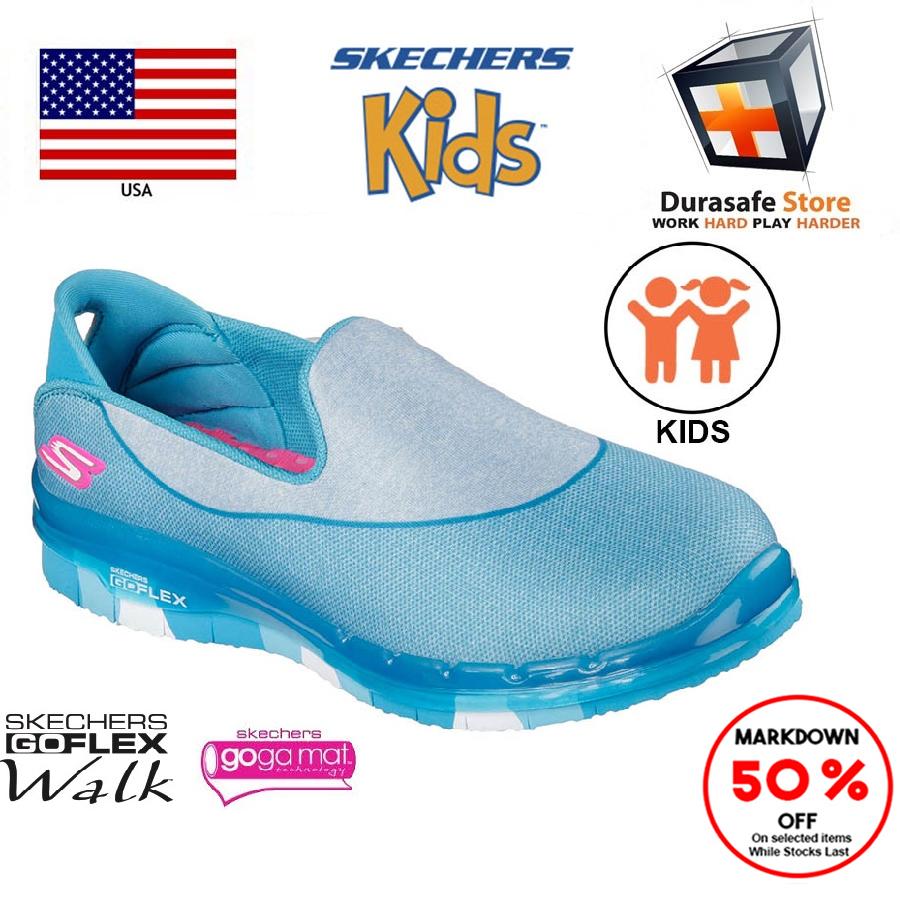 SKECHERS 81078L Kid's GO Flex Walk Shoe