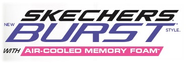 skechers burst with air cooled memory foam