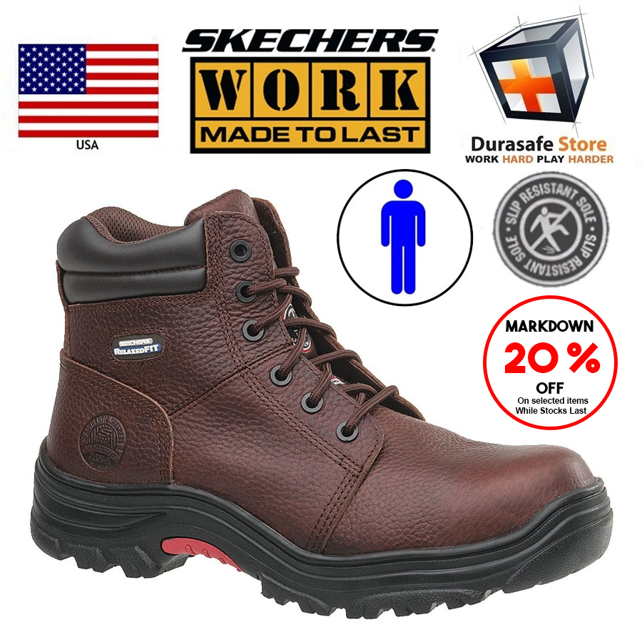 6718f61a88b Skechers 77067 Men's Burgin Composite Safety Boots Size 9-10