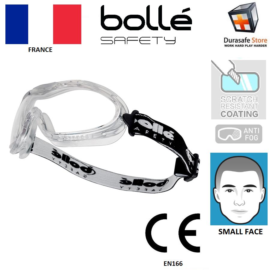 BOLLE X90 CLEAR ANTI SCRATCH//FOG GOGGLE