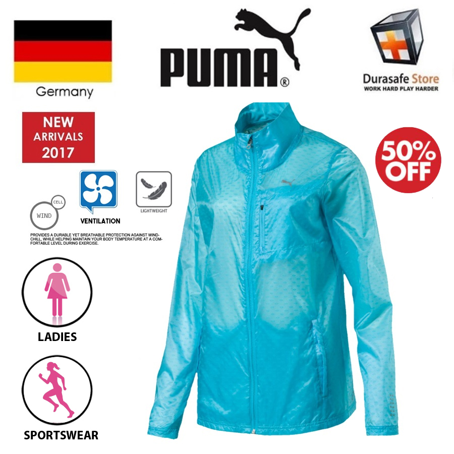 flera färger officiell leverantör bra erbjudanden PUMA 51559702 Running Women Lite Jacket Blue Size XS-L ...