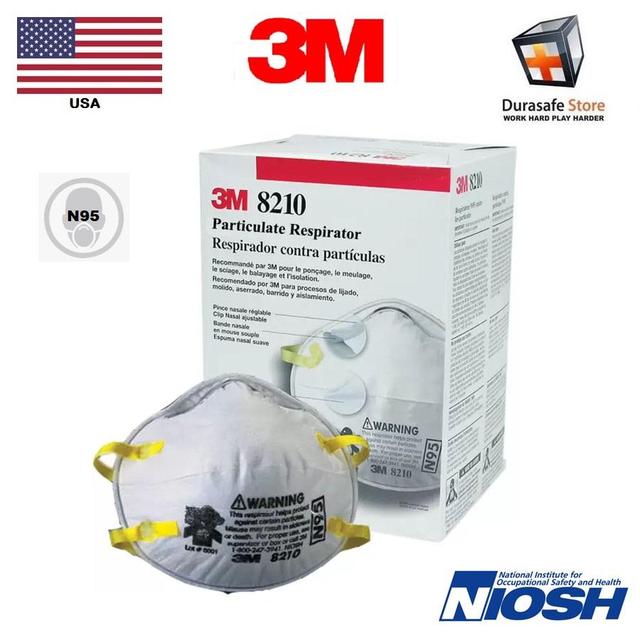 Durasafe 8210 - box Respirator 3m™ Shop N95 Disposable Particulate Usa 20pc