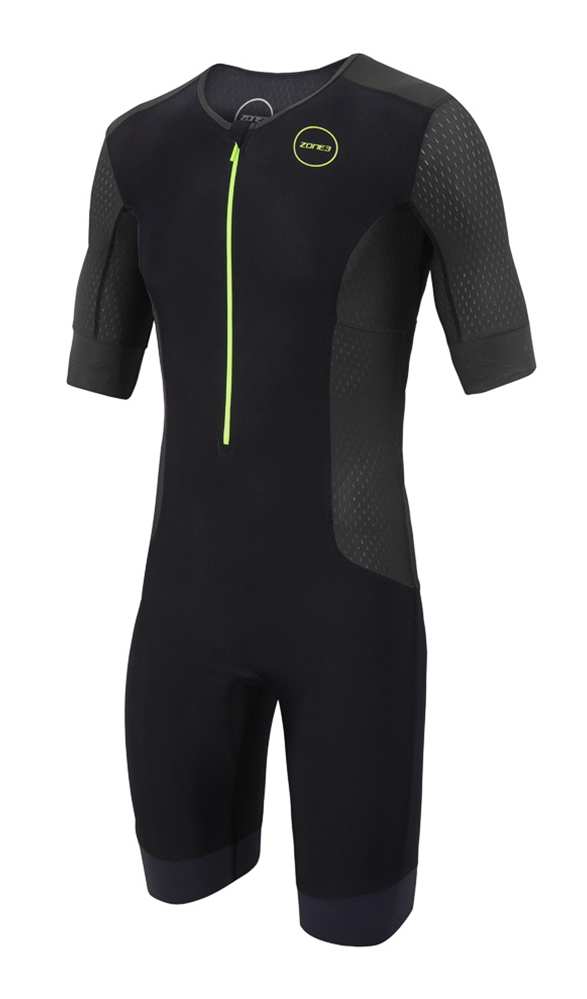 2019 Zone3 Men/'s Aquaflo Plus Short Sleeve Tri Suit