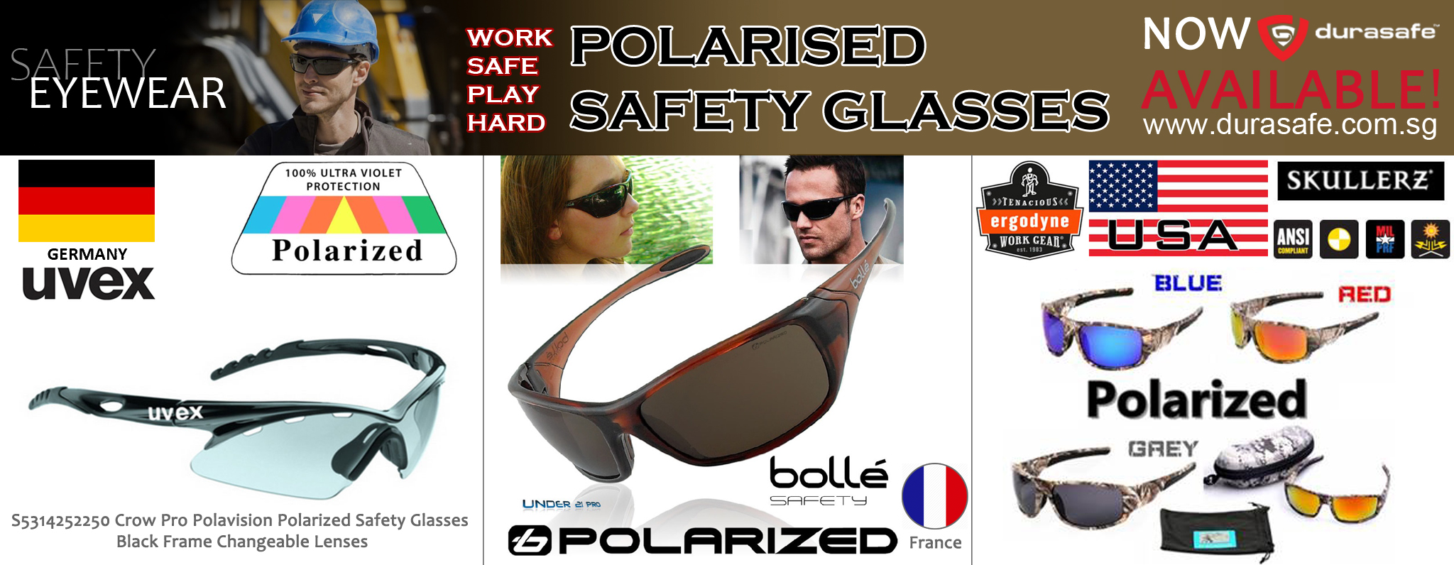 Banner of POLARISED SAFETY GLASSES